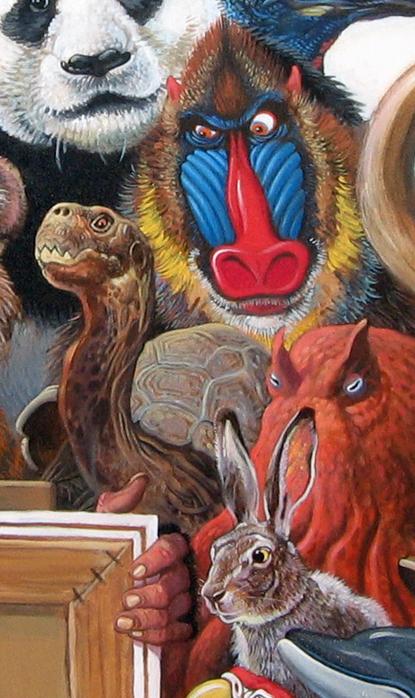 Menagerie – Mandrill, Tortoise & Hare Detail